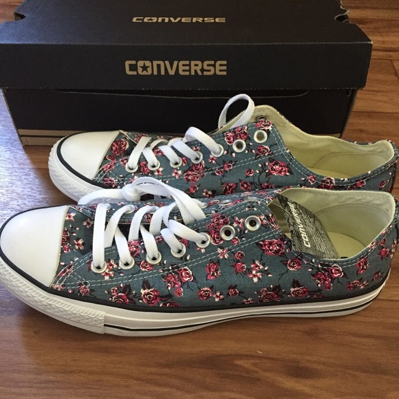 Converse All Star Denim Floral Sneakers 345685d20